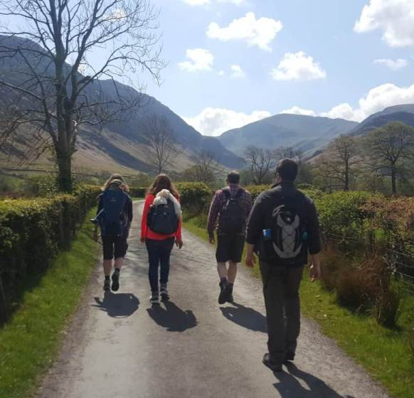Walkers in Newlands Valley small