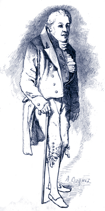 Coleridge, aged 61, by Daniel Maclise
