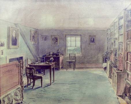 Coleridge's room in the Gillmans' house at Highgate