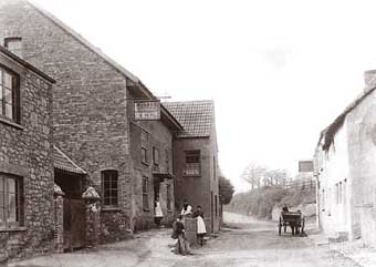 Coleridge Cottage in the late 1890s when it was an inn
